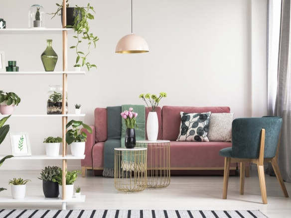 stylish decorated living room
